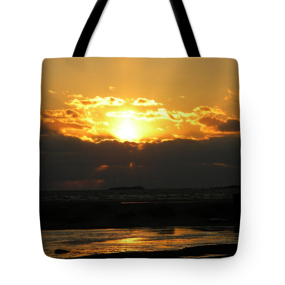 Winter Tote Bag featuring the photograph Winter Beach Sunset by Joan Gal-Peck