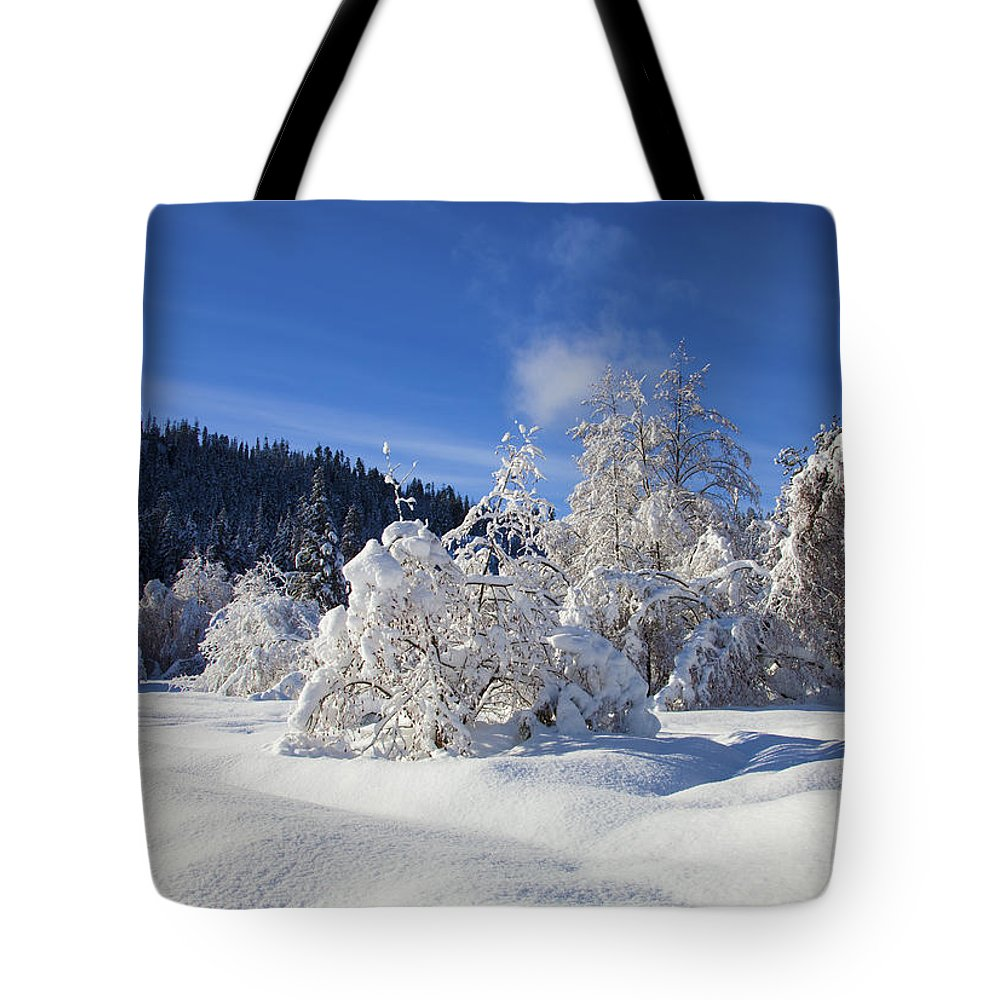 Snow Tote Bag featuring the photograph Winter Blanket by Mike Dawson