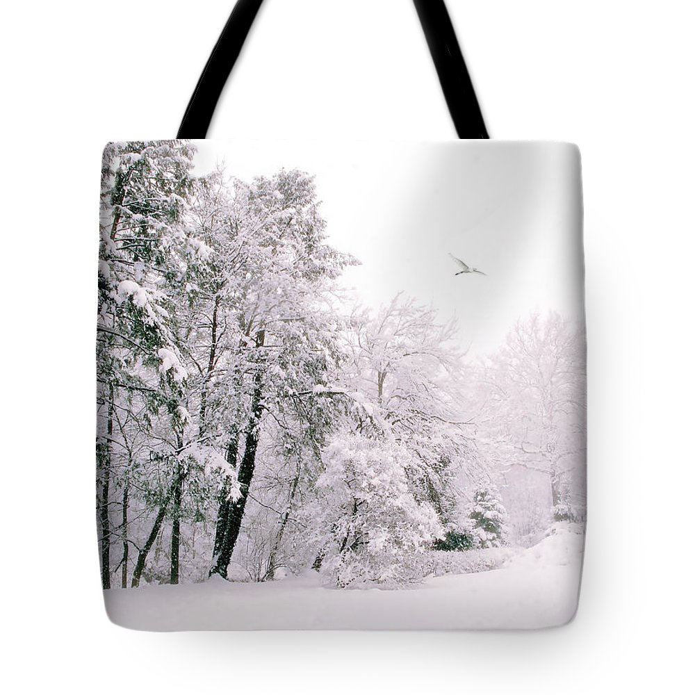 Winter Tote Bag featuring the photograph Winter White by Jessica Jenney