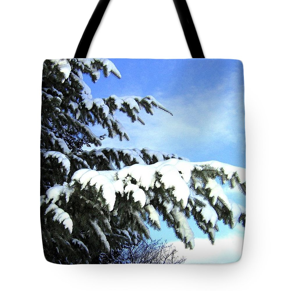 Winter Tote Bag featuring the photograph Winter Boughs by Will Borden