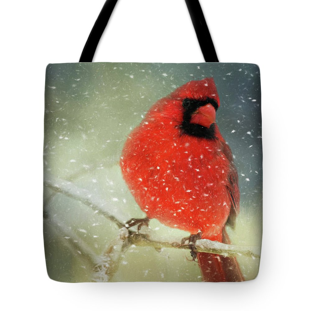 Animal Tote Bag featuring the photograph Winter Card by Lana Trussell