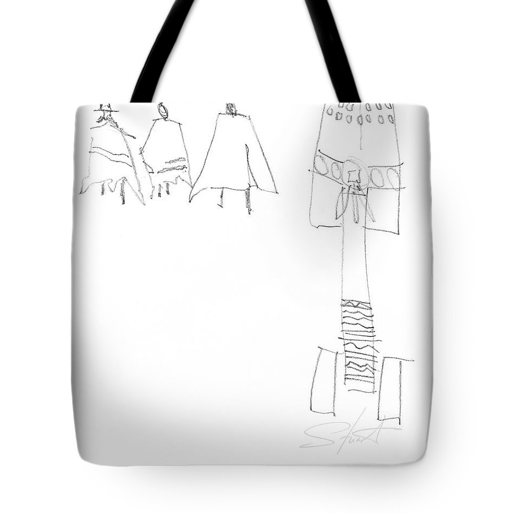 Native Americans Tote Bag featuring the painting Winter by Charles Stuart