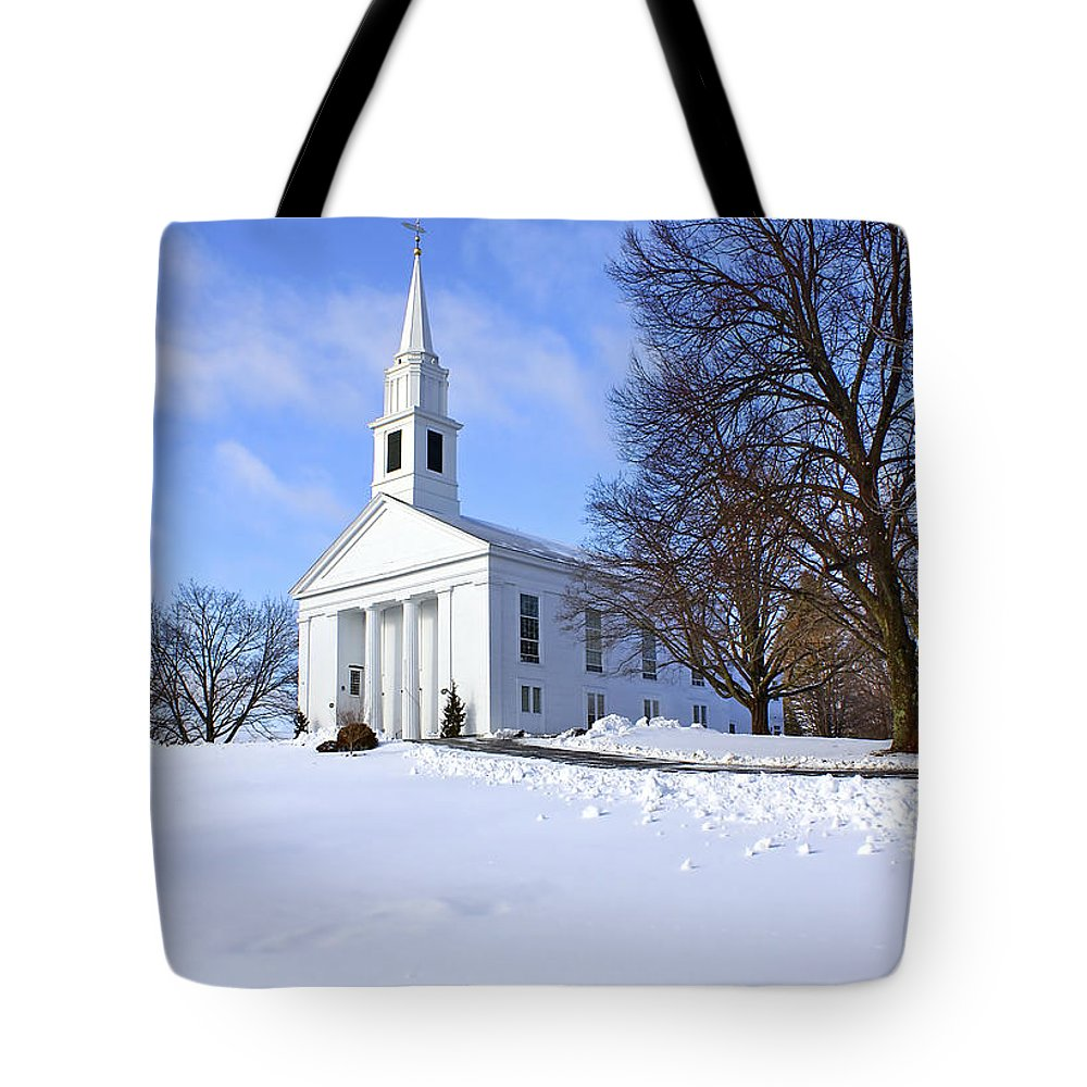 Beautiful Tote Bag featuring the photograph Winter Church by Evelina Kremsdorf