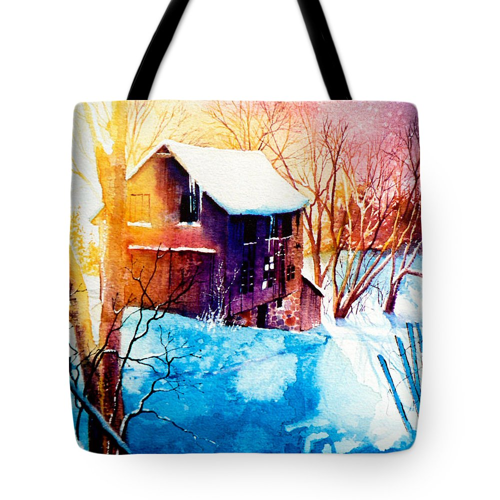 Winter Color Painting Tote Bag featuring the painting Winter Color by Hanne Lore Koehler