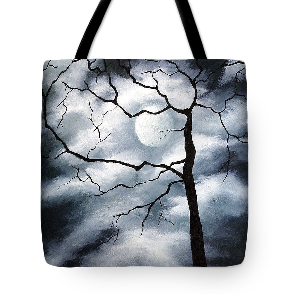 Winter Tote Bag featuring the painting Winter Evening by Elizabeth Lisy Figueroa