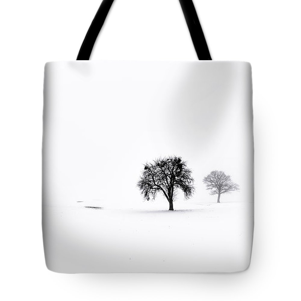 Seasons Tote Bag featuring the photograph Winter Fog by Joseph Yvon Cote