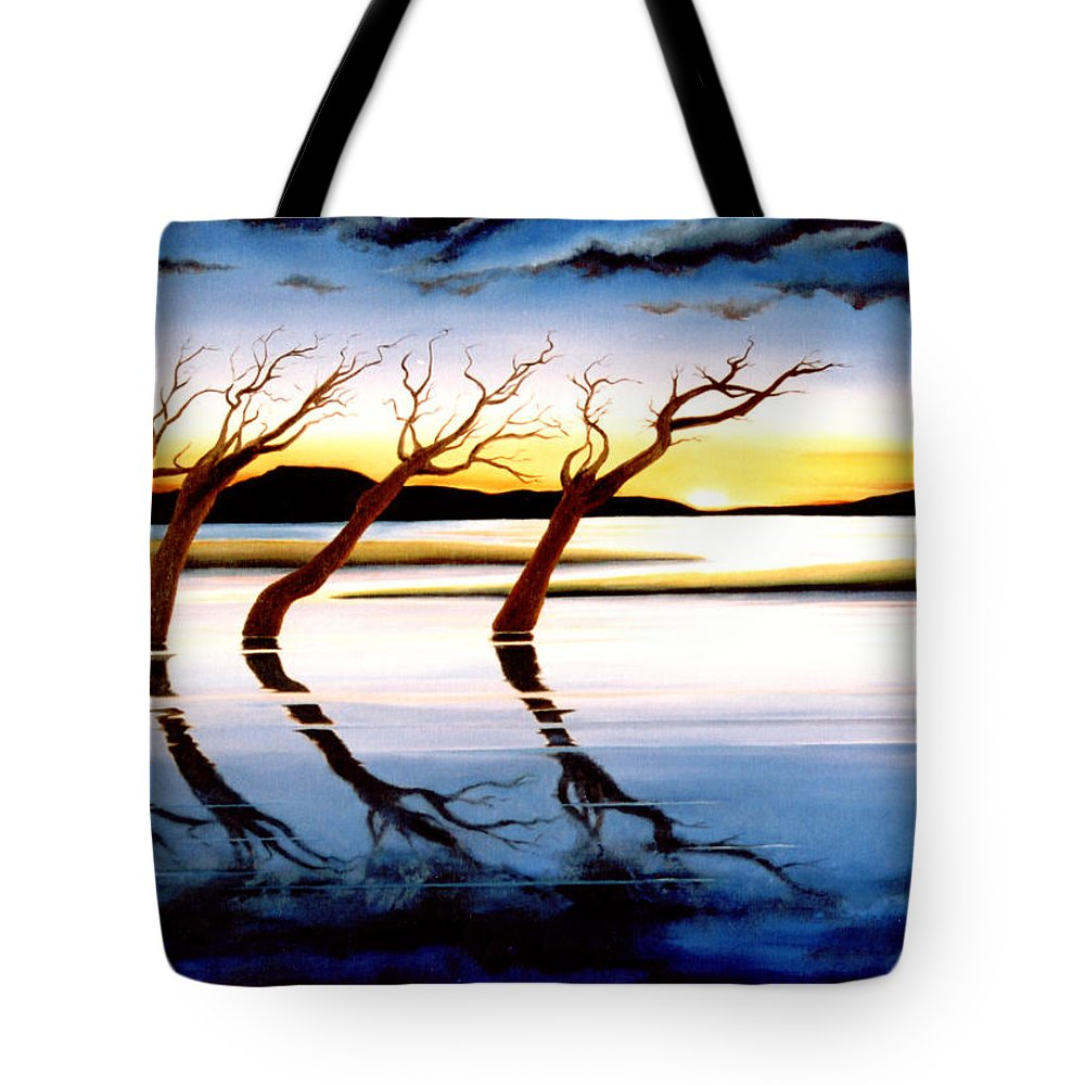 Seascape Tote Bag featuring the painting Winter Heatwave by Mark Cawood