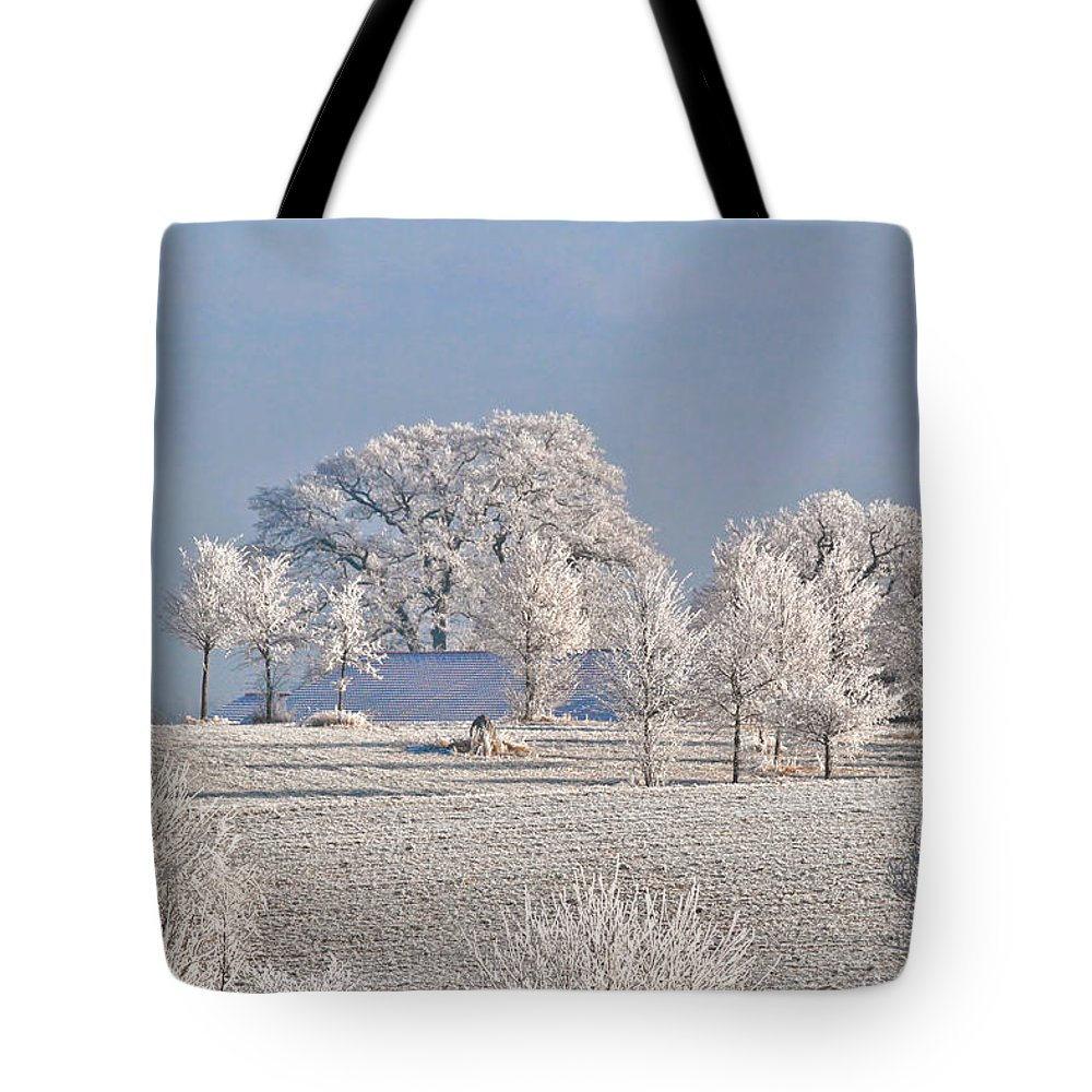 Canada Tote Bag featuring the photograph Winter In Canada by Christine Till