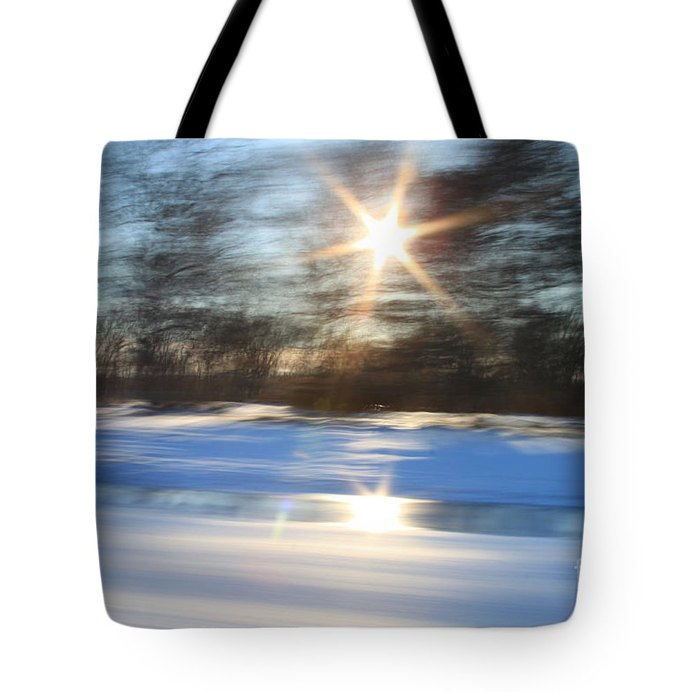 Winter Tote Bag featuring the photograph Winter In Motion by Aquadro Photography