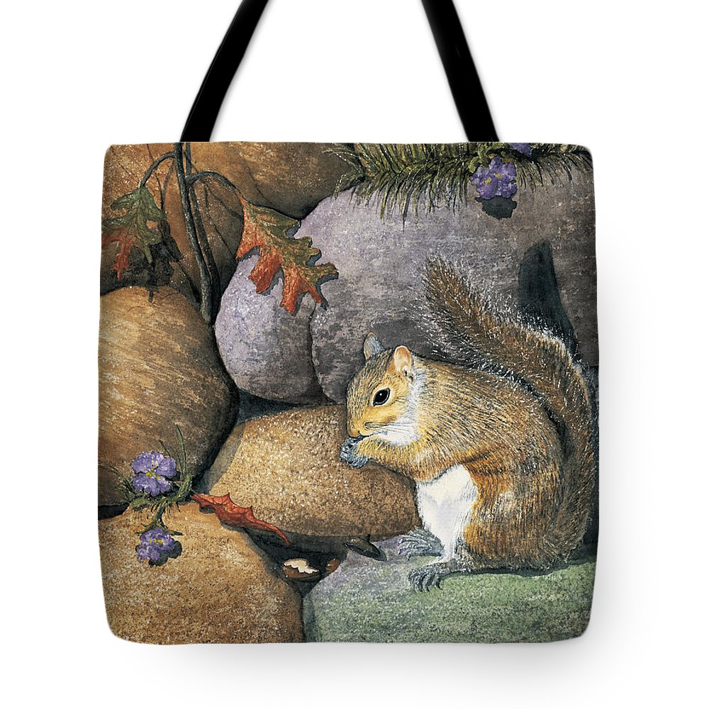 Nature Tote Bag featuring the painting Winter Is Coming by Mary Tuomi