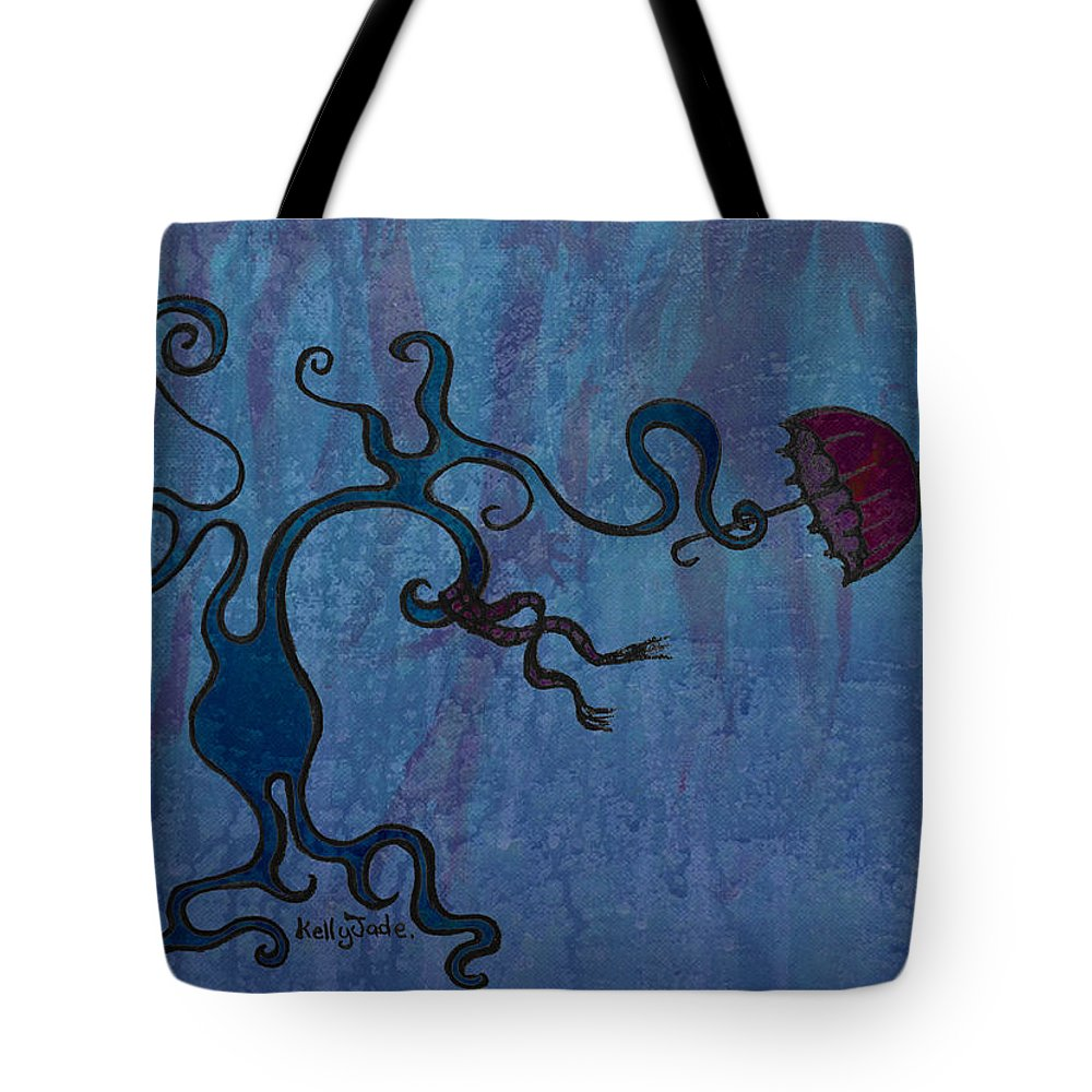 Tree Tote Bag featuring the digital art Winter by Kelly Jade King
