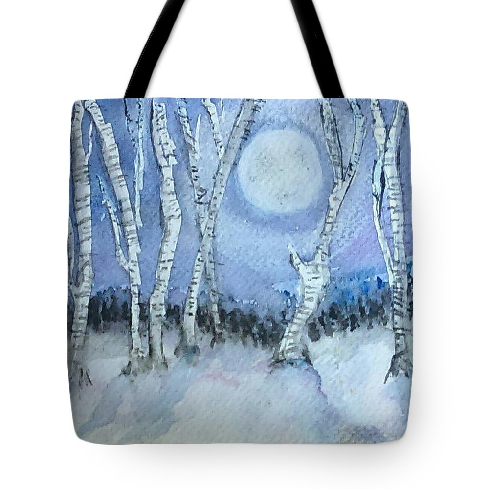 Winter Tote Bag featuring the painting Winter Landscape by Jennie Hallbrown