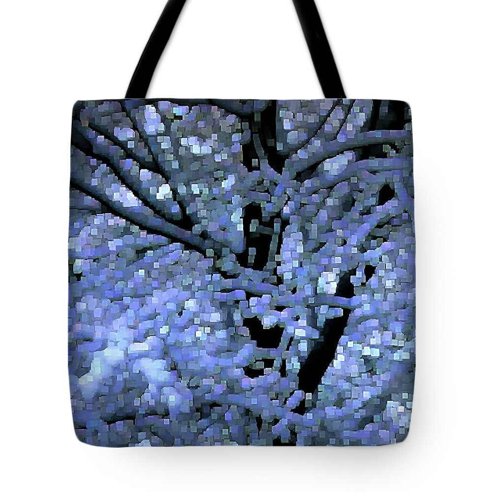 Abstract Tote Bag featuring the digital art Winter Light by Dave Martsolf