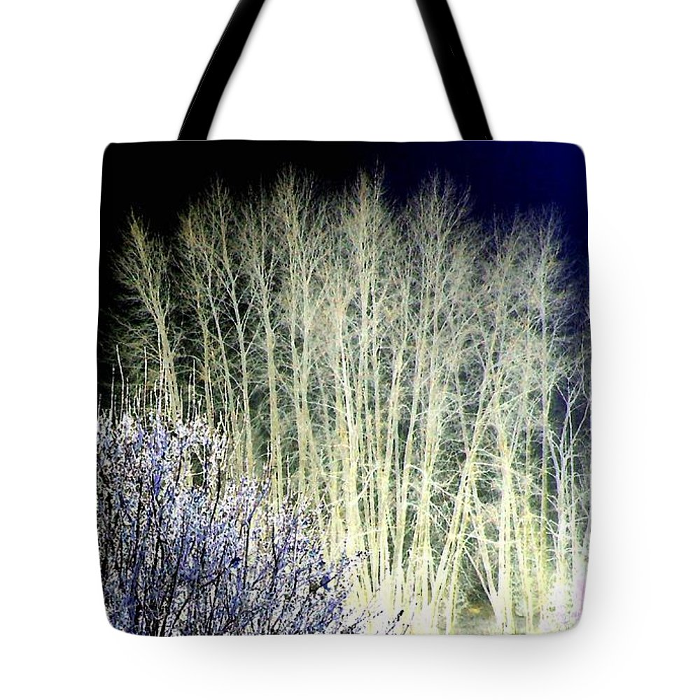Winter Tote Bag featuring the digital art Winter Moonlight by Will Borden