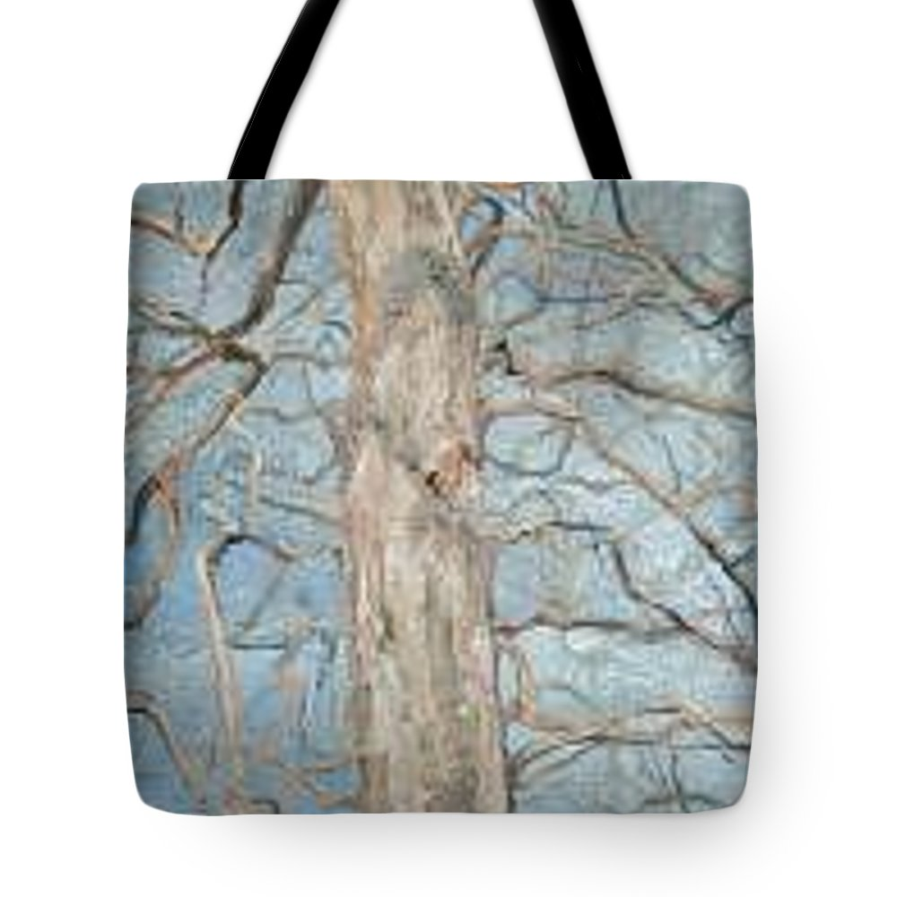 Tree Tote Bag featuring the painting Winter Morning by Leah Tomaino