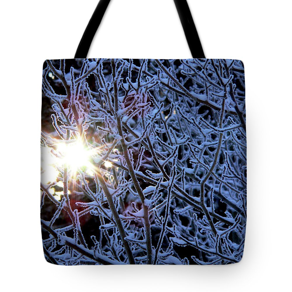 Winter Tote Bag featuring the photograph Winter Morning Sunrise by Mark Ivins