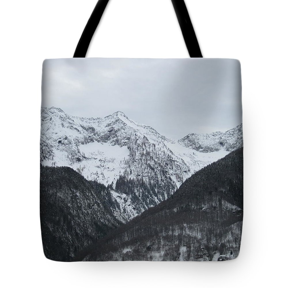Mountains Tote Bag featuring the photograph Winter Mountains by Tiziana Verso