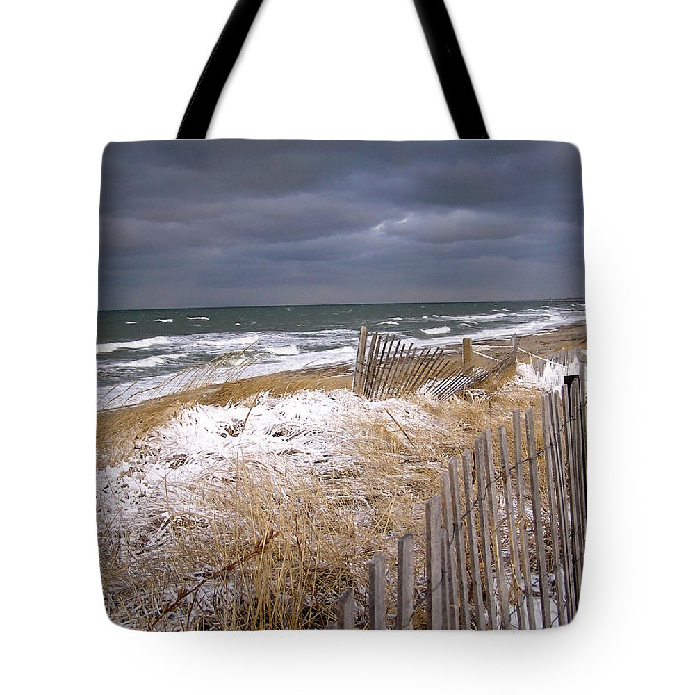 Cape Cod Tote Bag featuring the photograph Winter On Cape Cod by Charles Harden