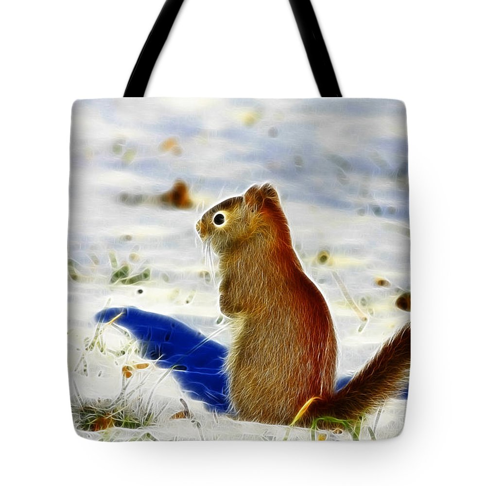 Red Tote Bag featuring the photograph Winter Red by Deborah Benoit