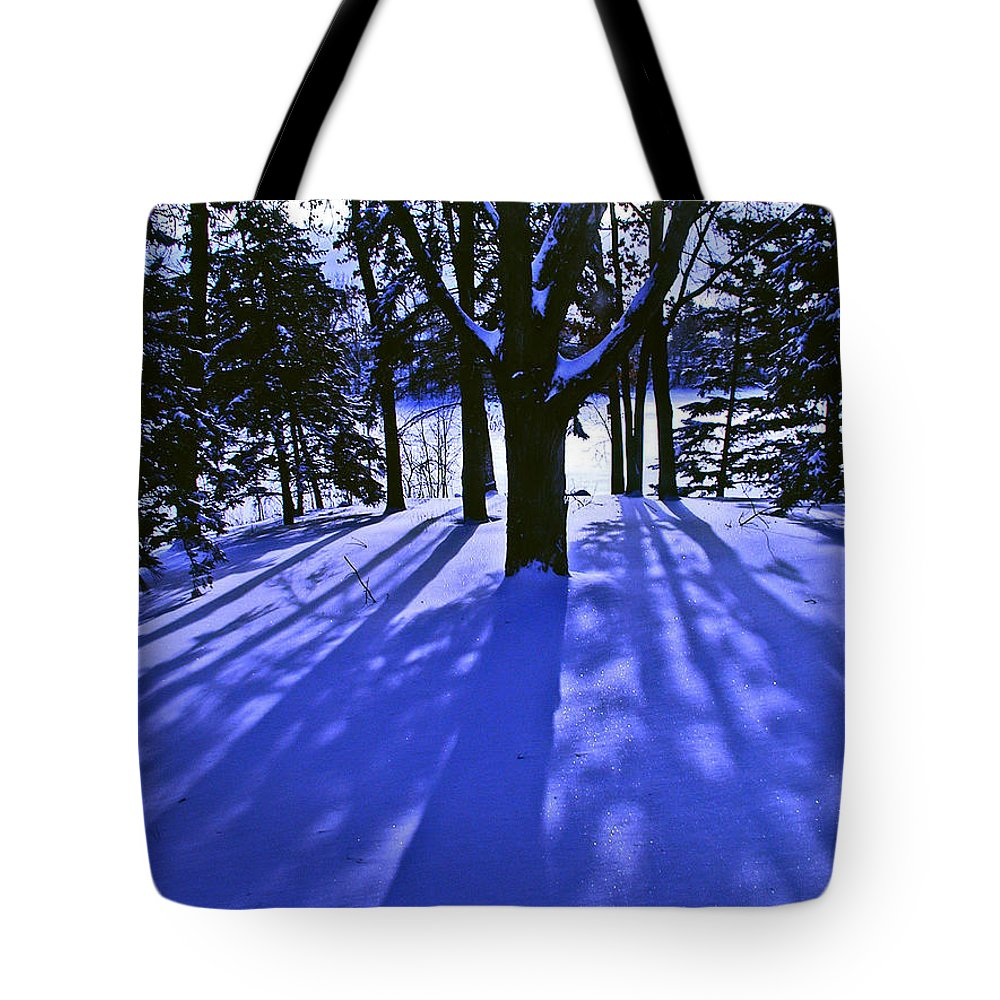 Landscape Tote Bag featuring the photograph Winter Shadows by Tom Reynen