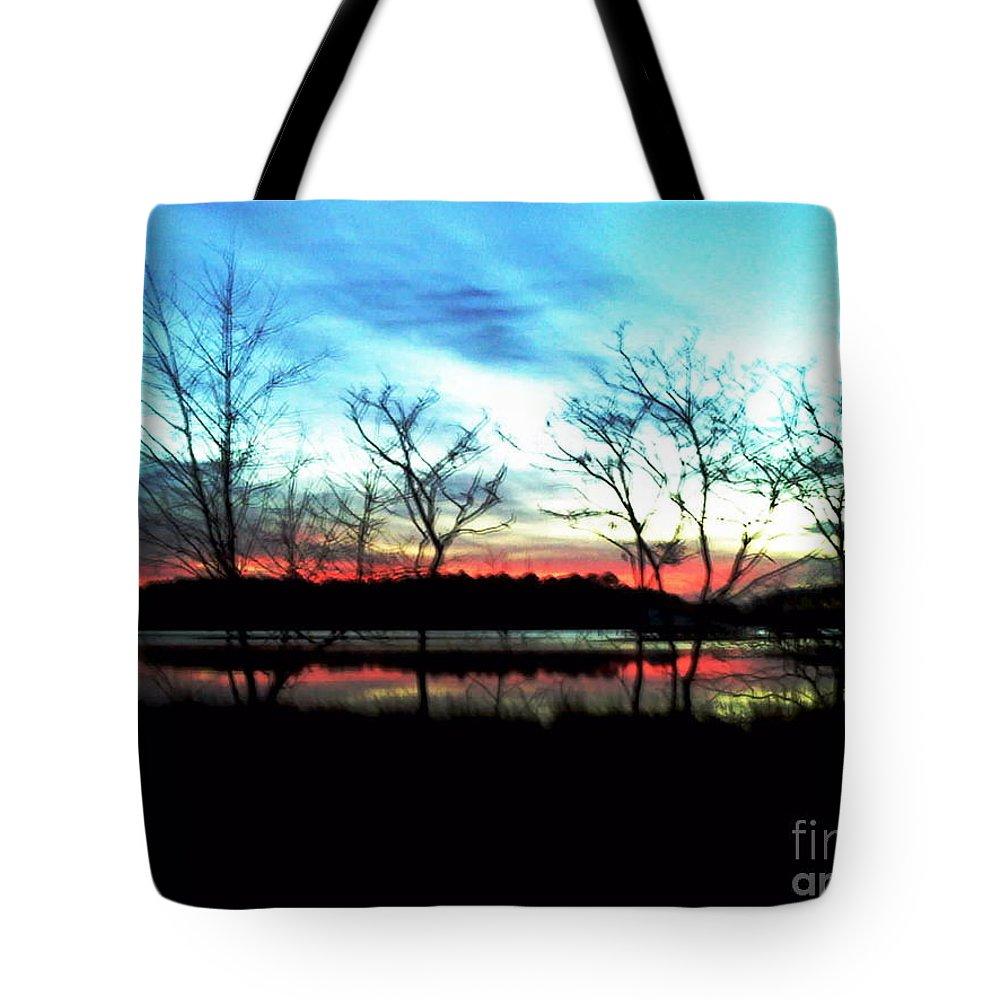 Tote Bag featuring the digital art Winter Solstice by Dawn Johansen