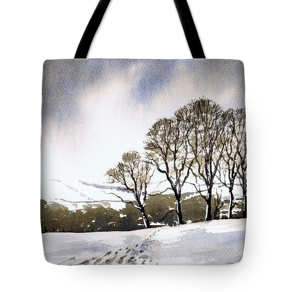Winter Tote Bag featuring the painting Winter Sowood by Paul Dene Marlor