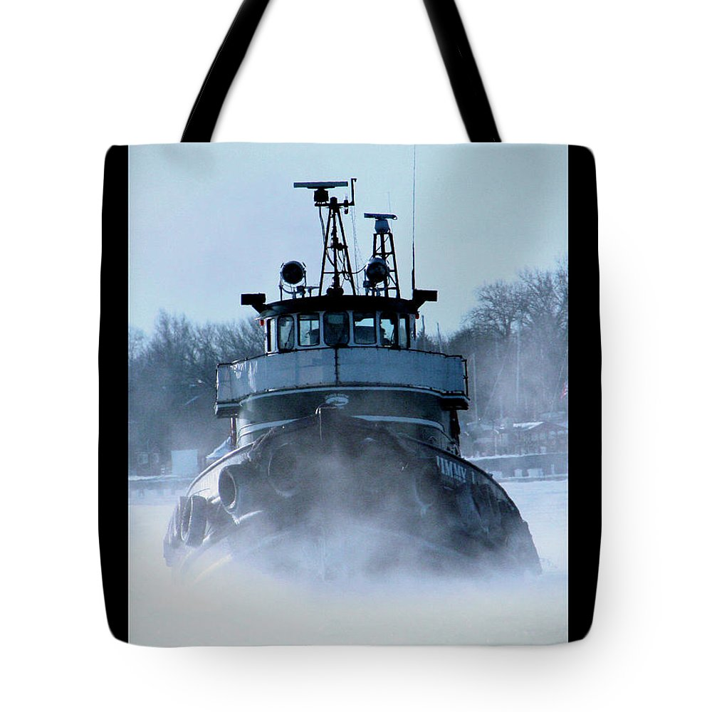 Tug Tote Bag featuring the photograph Winter Tug by Tim Nyberg
