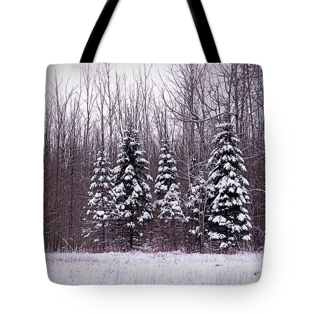 Winter Tote Bag featuring the photograph Winter White Magic by Leslie Montgomery
