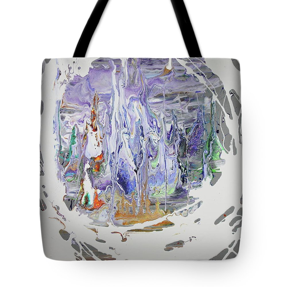 Ice Tote Bag featuring the painting Ice Castle by Madeleine Arnett