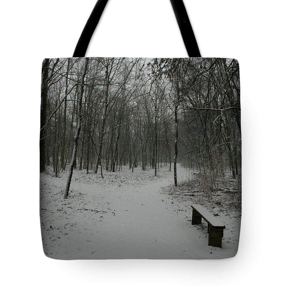 Snow Tote Bag featuring the photograph Winter Y by Dylan Punke
