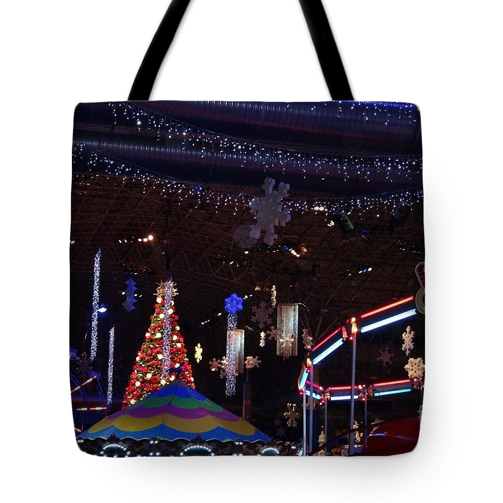Carnival Tote Bag featuring the photograph Winterfest Carnival 2013 by Teresa Hayes