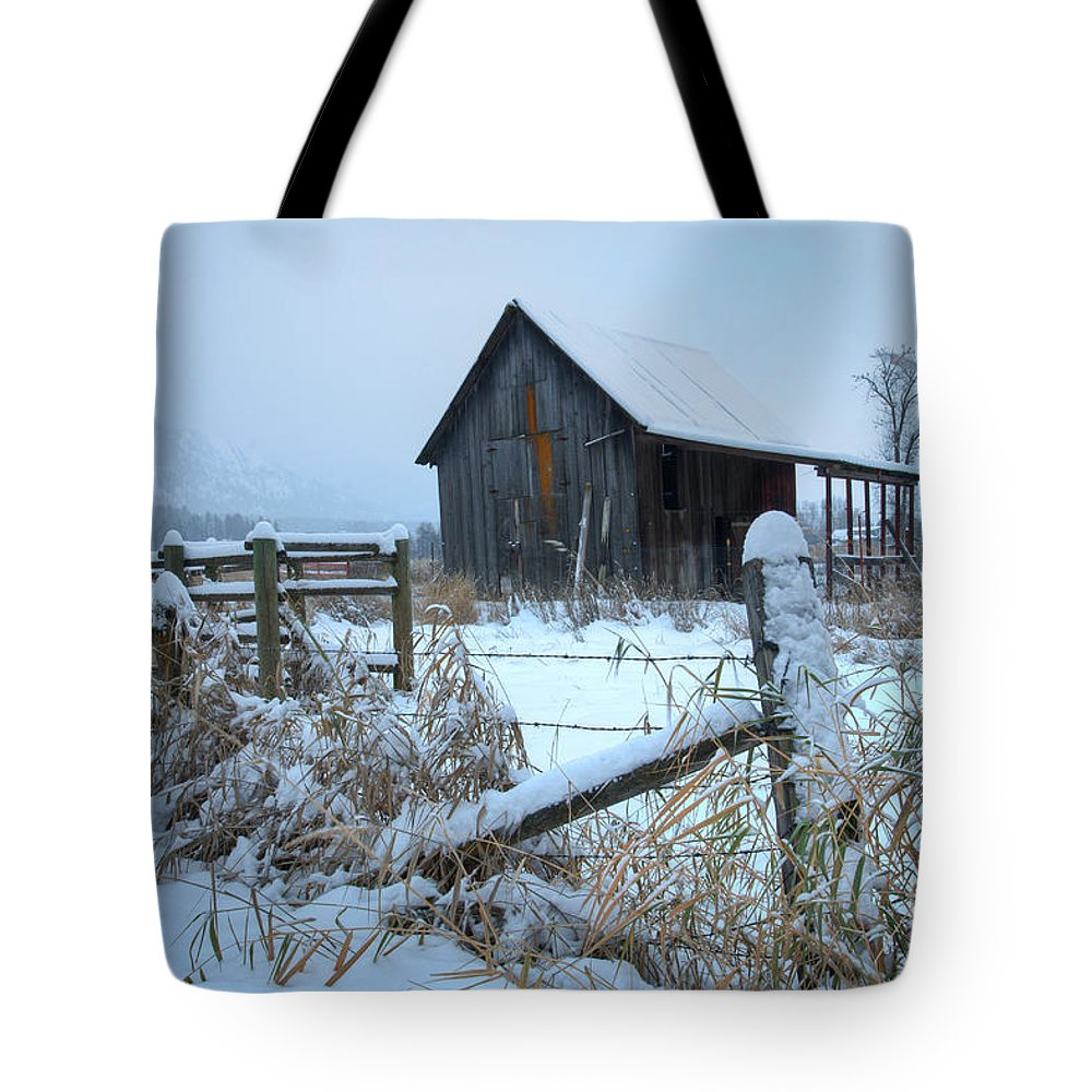 Chewelah Tote Bag featuring the photograph Winters Arrival by Idaho Scenic Images Linda Lantzy