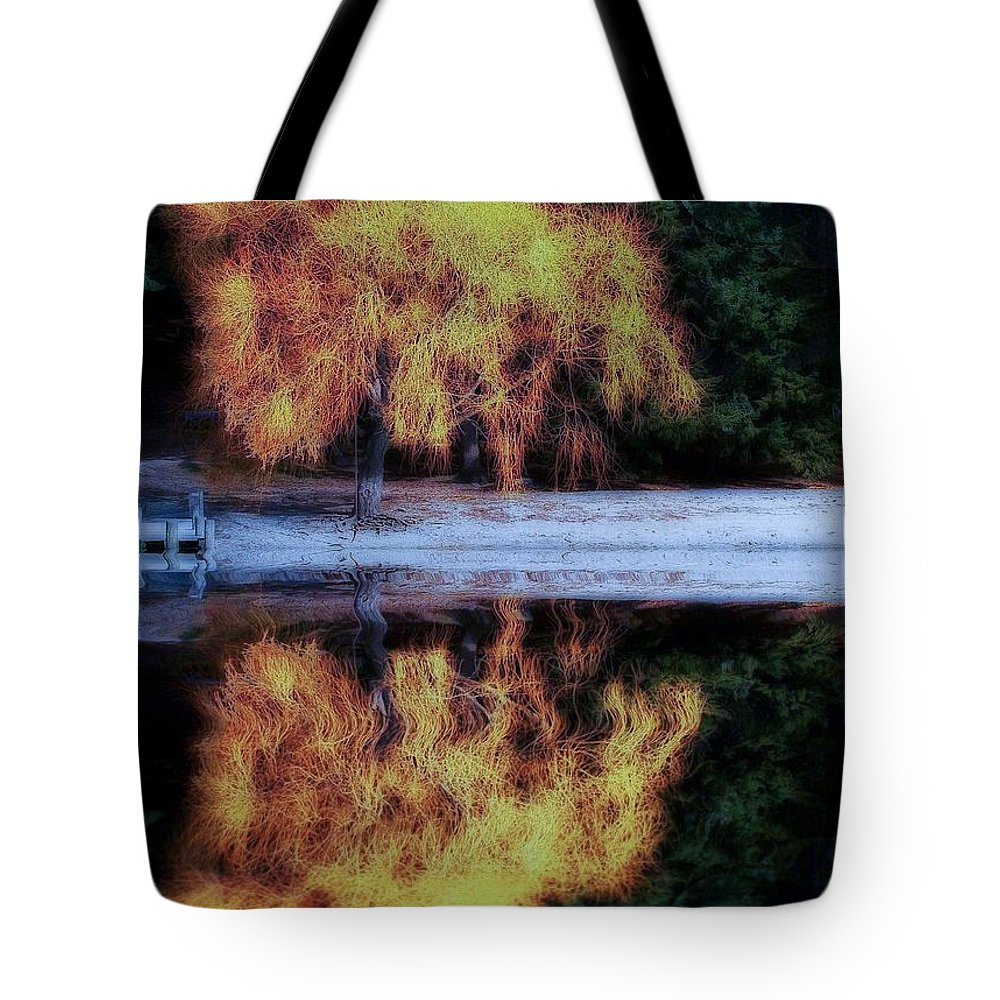 Lake Wakatipu Tote Bag featuring the photograph Winters' Embers by Kym Clarke
