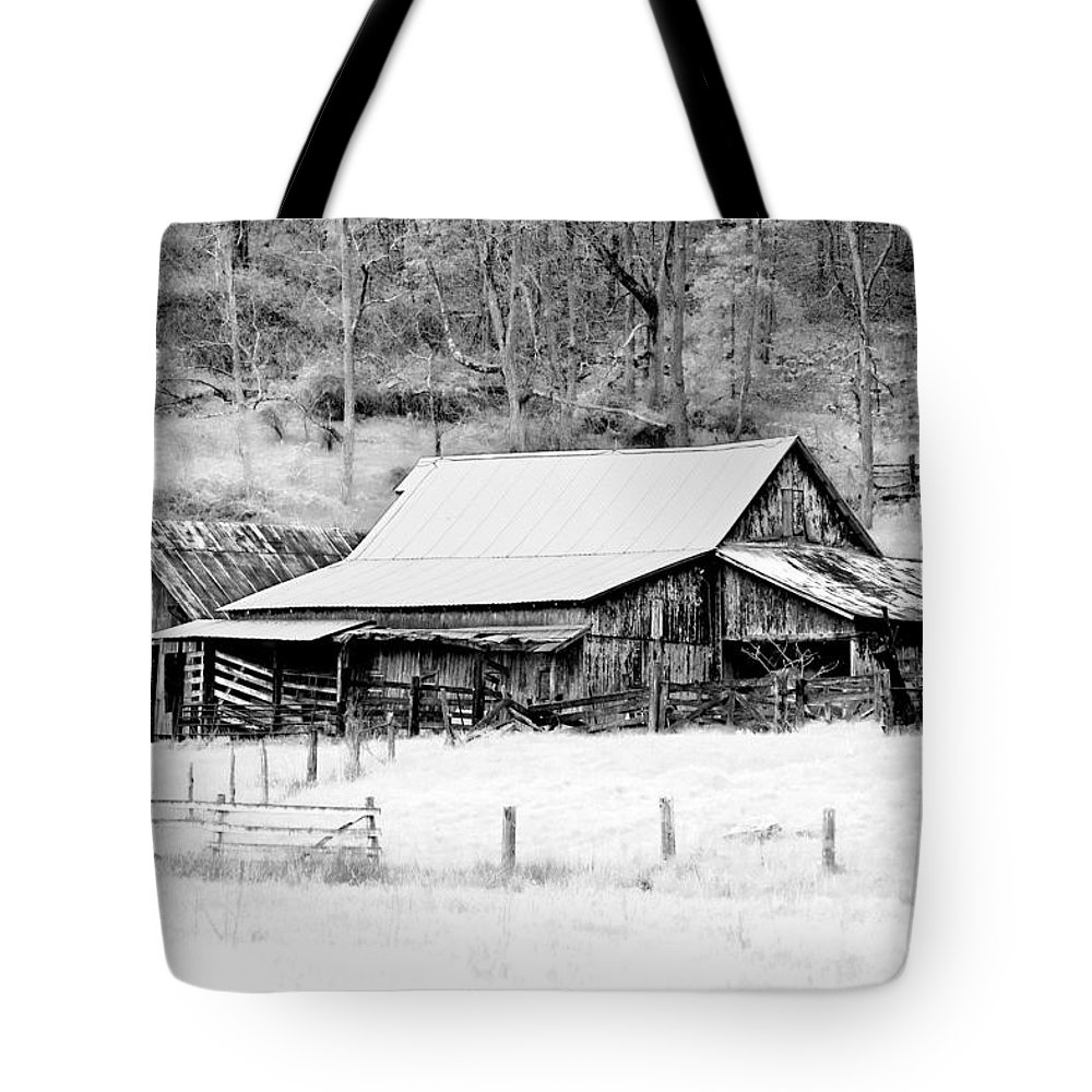 Barn Tote Bag featuring the photograph Winter's White Shroud by Tom Mc Nemar