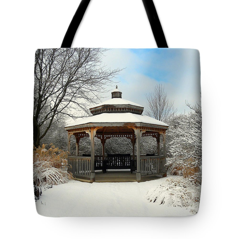 Winter Tote Bag featuring the photograph Wintertime by Teresa Schomig