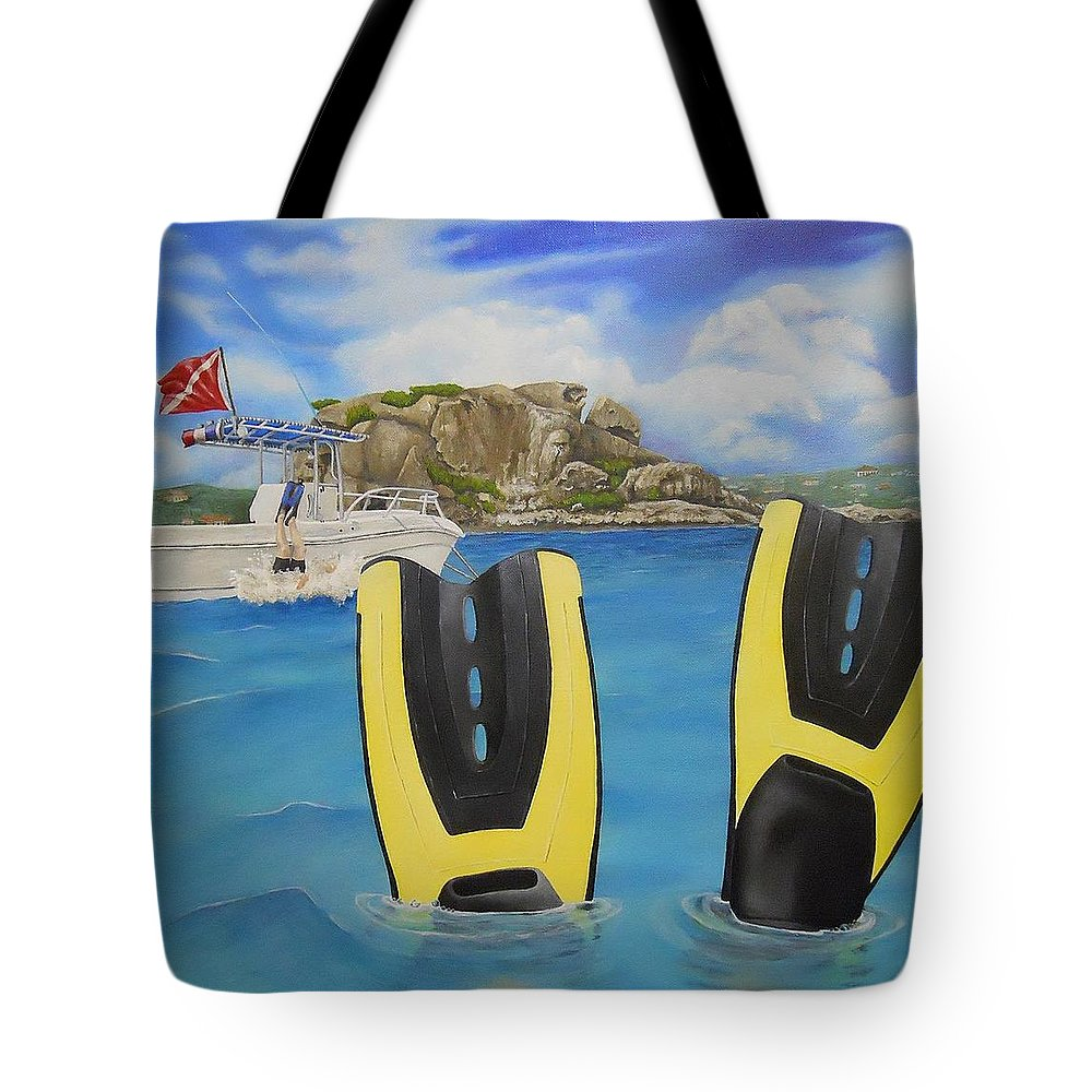 Tote Bag featuring the painting Wip- Creole Rock 03 by Cindy D Chinn