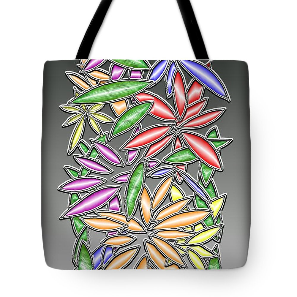 Abstract Tote Bag featuring the digital art Wire Flowers by Mark Sellers