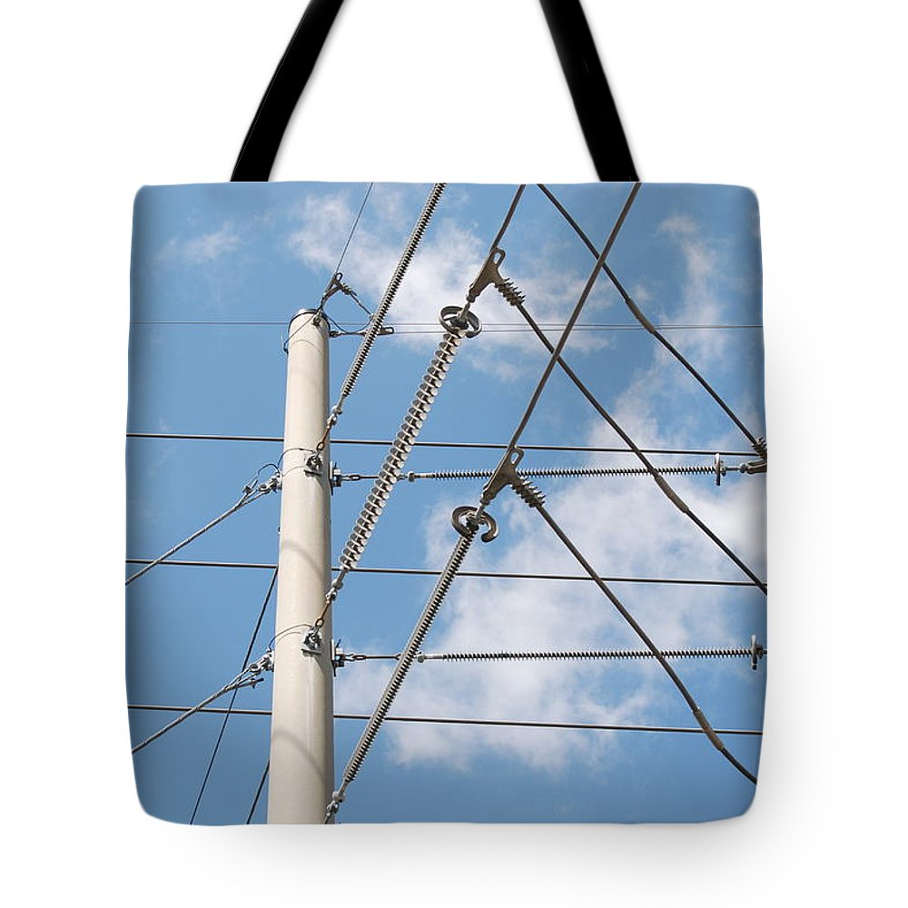 Sky Tote Bag featuring the photograph Wired Sky by Rob Hans