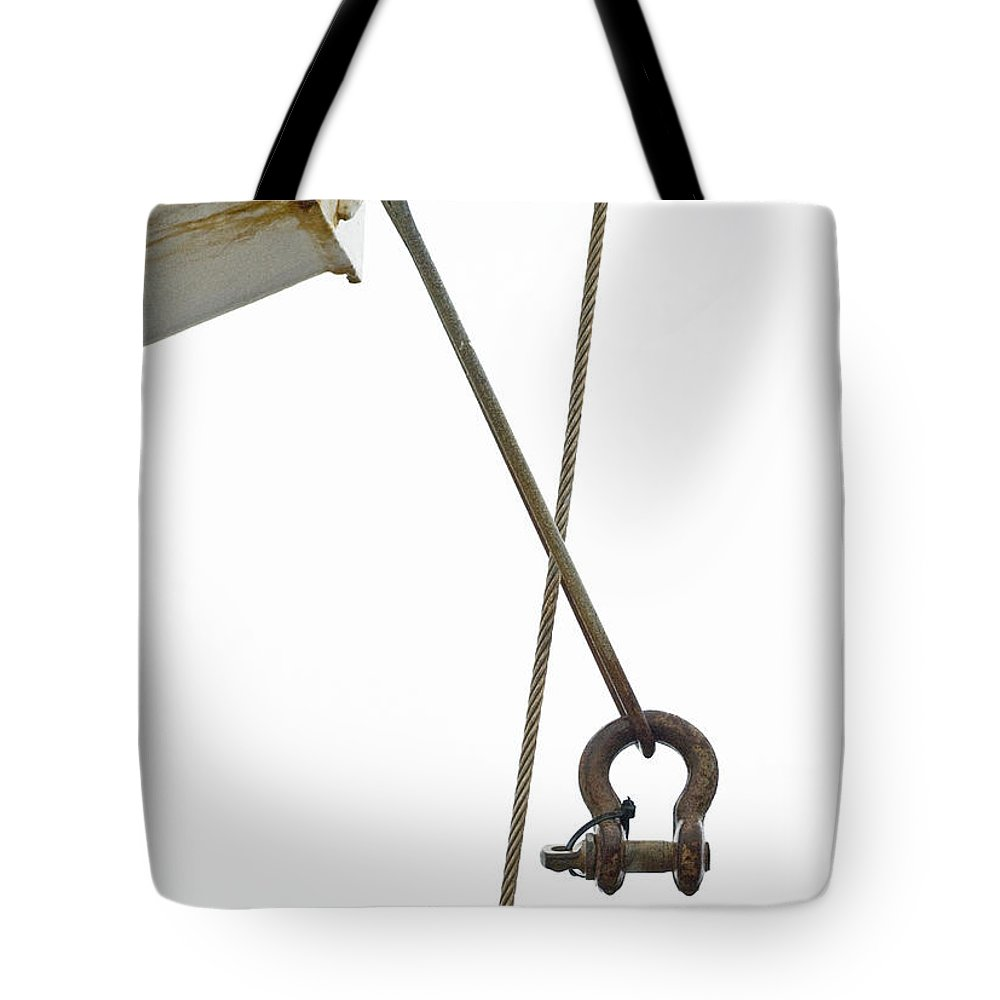 Wire Tote Bag featuring the photograph Wires by Charles Harden
