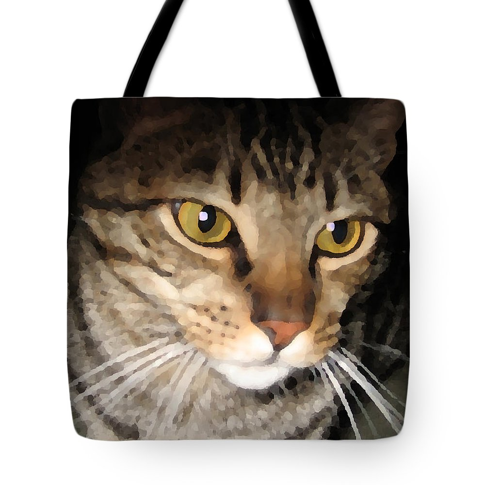 Cat Tote Bag featuring the photograph Wise Cat by Rhonda Chase