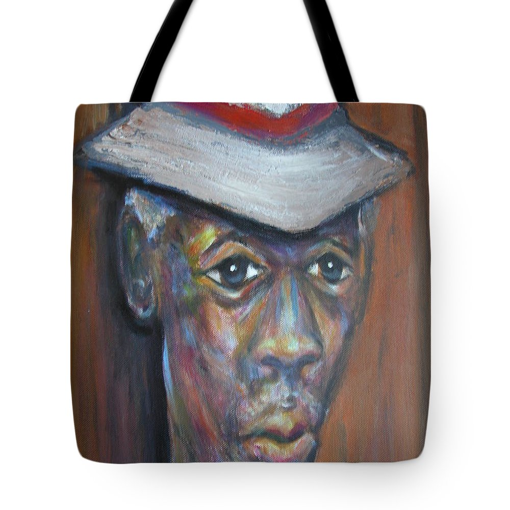Tote Bag featuring the painting Wise Old Man by Jan Gilmore