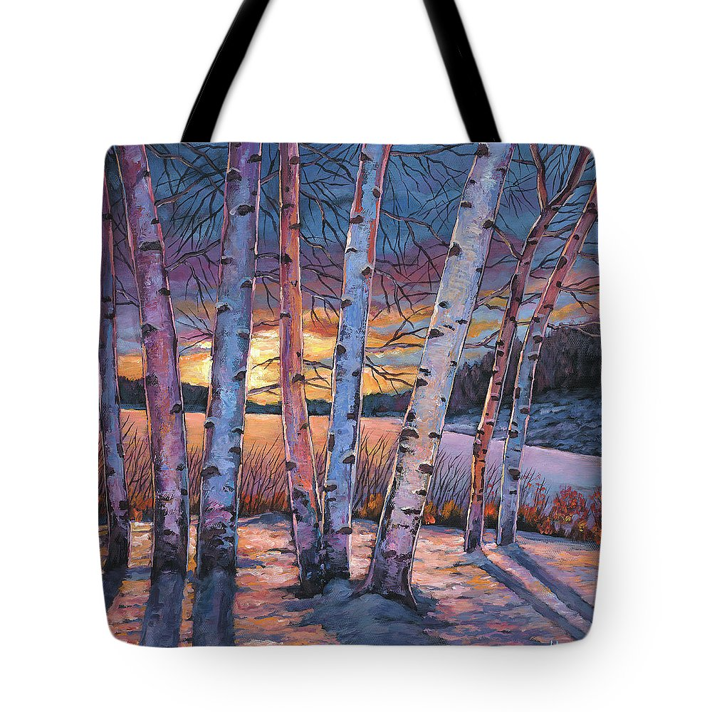 Winter Aspen Tote Bag featuring the painting Wish You Were Here by Johnathan Harris