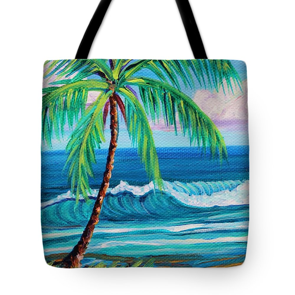 Coastlines Tote Bag featuring the painting Wish You Were Here by Suzanne MacAdam
