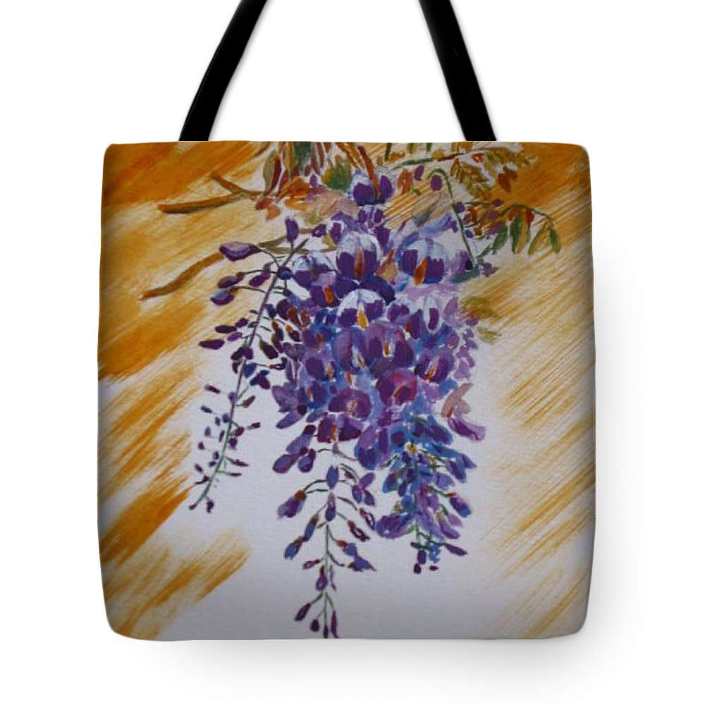 Wisteria Tote Bag featuring the painting Wisteria by Richard Le Page
