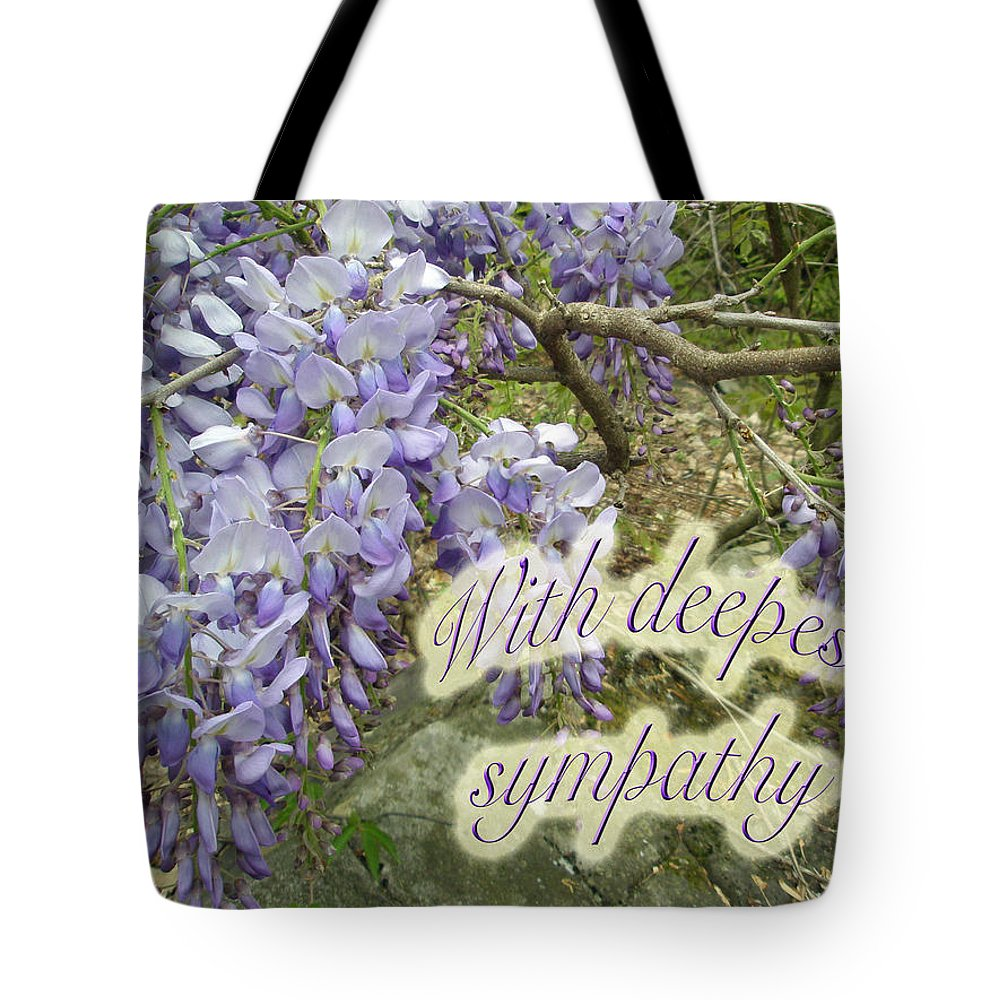 Wisteria Tote Bag featuring the photograph Wisteria Sympathy Card by Mother Nature