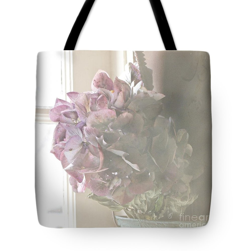 Hydrangea Tote Bag featuring the photograph Wistful by Cindy Garber Iverson