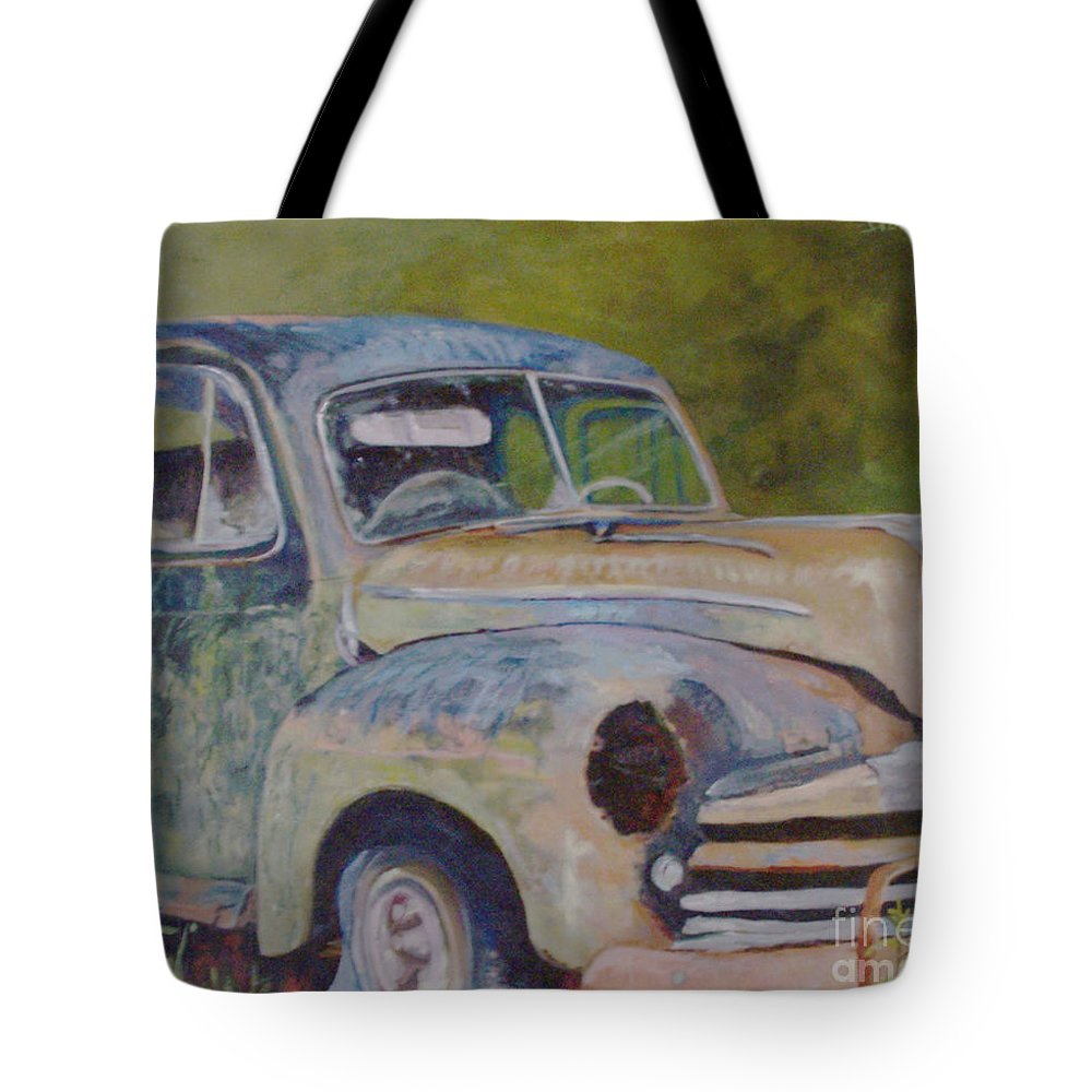 Vintage Tote Bag featuring the painting Wistful In Winchendon by Alicia Drakiotes