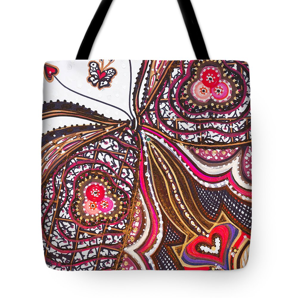 Heart Tote Bag featuring the painting With Deep Thoughts And Tears - Ix by Laurel Rosenberg