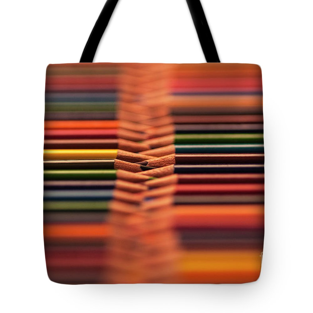 Abstract Tote Bag featuring the photograph With Design Elements In Rows by Jim Corwin