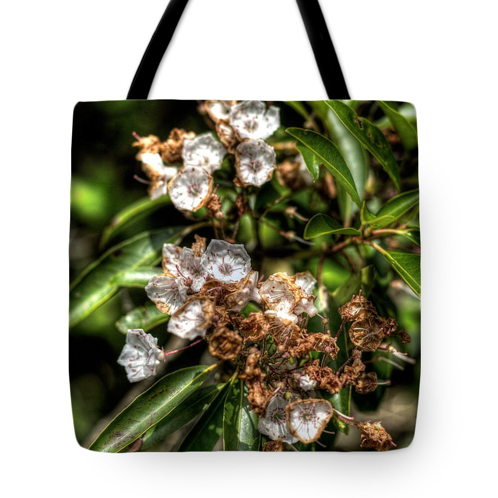 Hdr Tote Bag featuring the photograph Withering by Scott Wyatt
